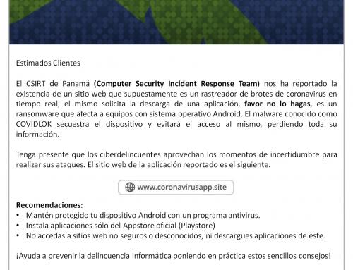 Comunicado Seguridad de la información 25-Marzo